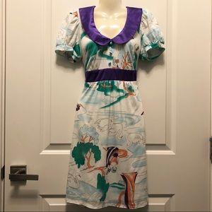 Viim by Joy Han Jane Austen Swan Collar Dress S